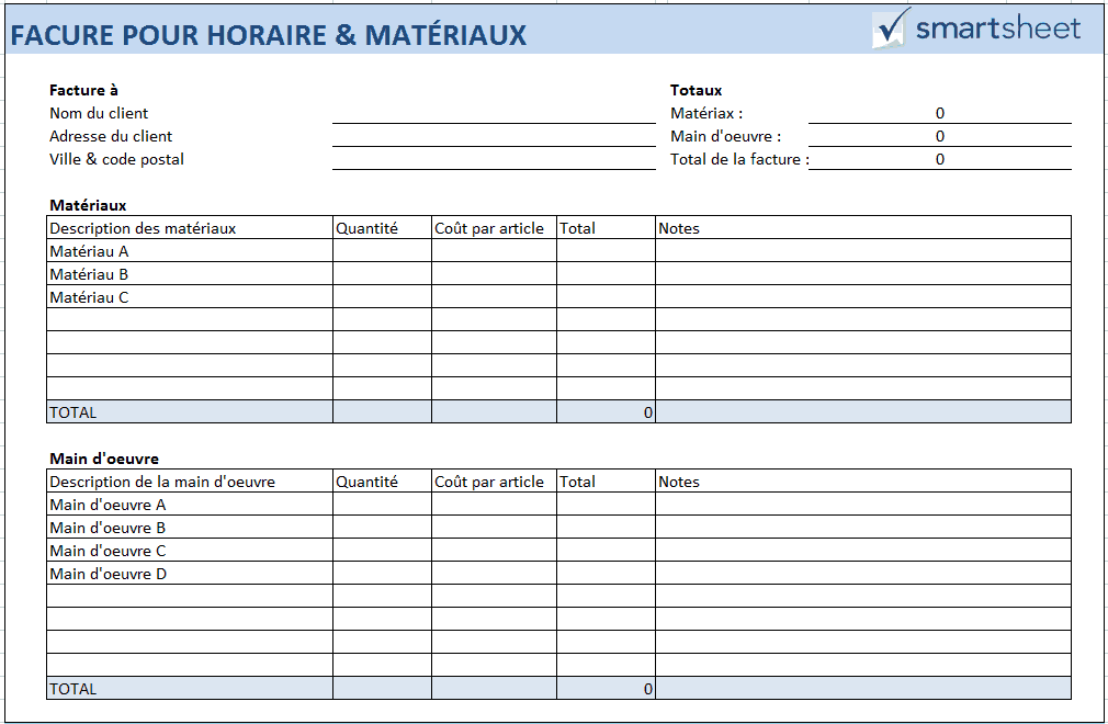 9229298e051a38 Une facture pour horaire   matériaux est avantageuse lorsqu une urgence ou  du travail supplémentaire intervient au cours d un projet.