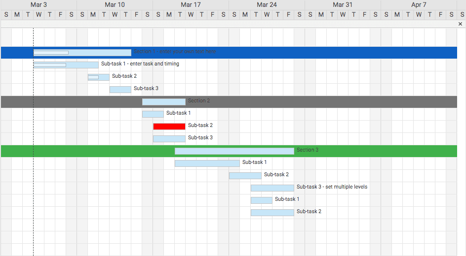 Automatically Formatted Task Bars
