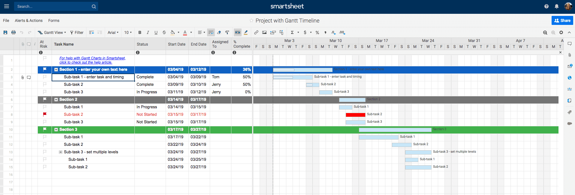 Fill In Project Details