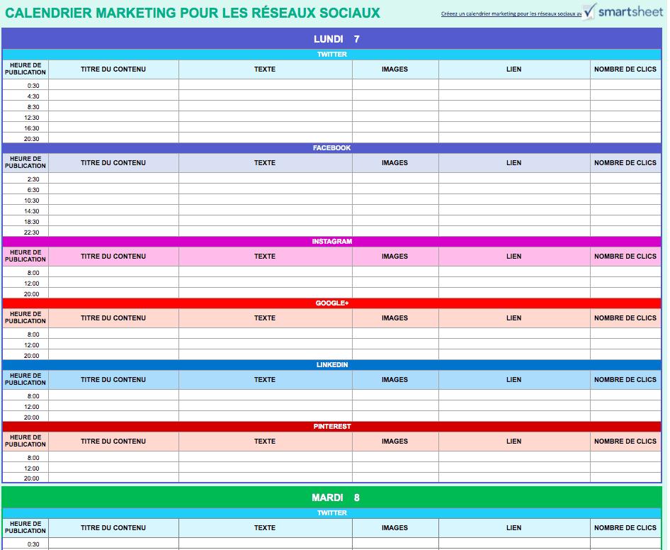 9 modèles Excel gratuits de calendriers marketing   Smartsheet