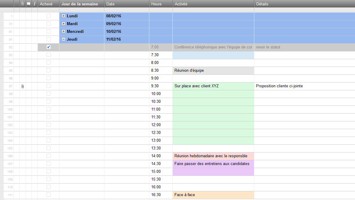 Modeles De Planification Gratuits Pour Excel