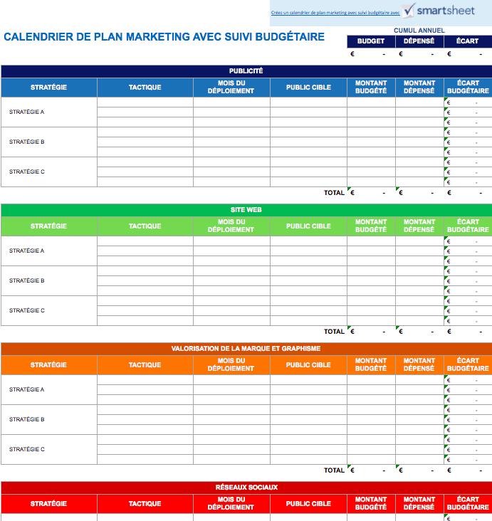 Calendrier Editorial Modele.9 Modeles Excel Gratuits De Calendriers Marketing Smartsheet