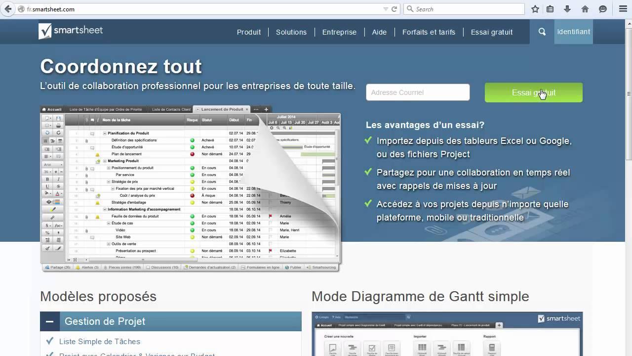 Créer un compte dans Smartsheet